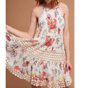 Anthropologie Kalila Floral Dress By Ranna Gill